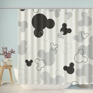 Mickey Mouse Icons Bathroom Shower Curtain