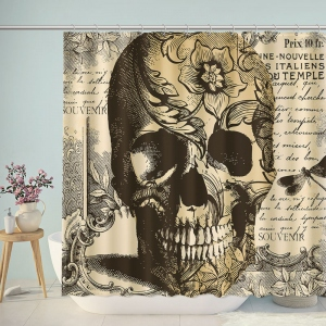 Vintage Skull Artwork Shower Curtain