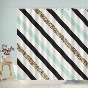Artistic Twill Bathroom Shower Curtain