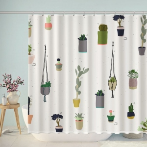 Cactus Potted Plant Shower Curtain