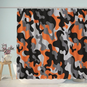Vibrant Artistic Camouflage Print Shower Curtain