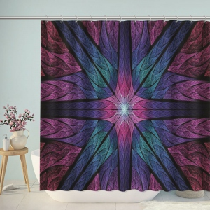 Fractal Art Psychedelic Print Shower Curtain