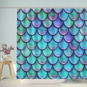 Holographic Mermaid Fish Scales Shower Curtain