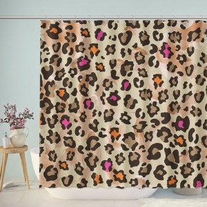 Modern Wild Leopard Pattern Print Shower Curtain
