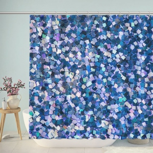 Bright Plastic Pieces Shower Curtain