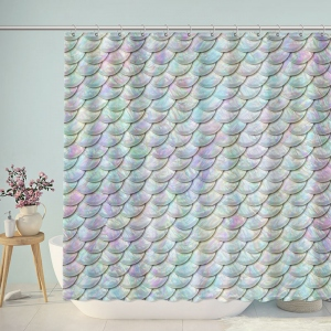 Brilliant Fish Scales Shower Curtain