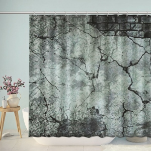 Mottled Wall Print Shower Curtain