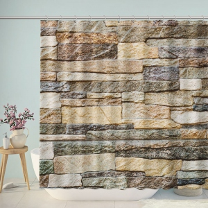 Rock Wall Shower Curtain