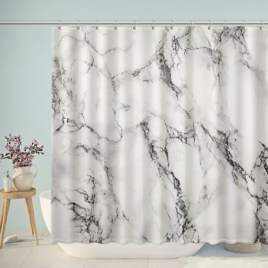 Marble Texture Print Shower Curtain