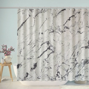 Messy Marble Texture Shower Curtain