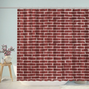 Red Brick Pattern Shower Curtain