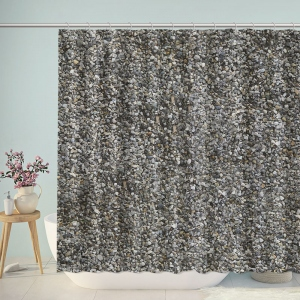 Gravel Texture Shower Curtain