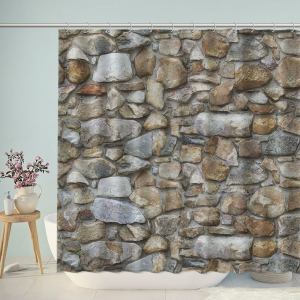 Rock Wall Texture Shower Curtain