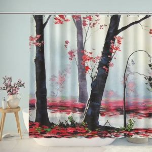 Artistic Autumn Forest Shower Curtain