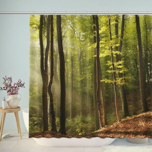 Beautiful Nature Forest Photography Shower Curtain
