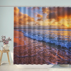 Fantasy Sunset Beach Landscape Shower Curtain
