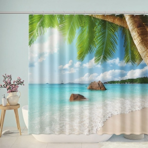 Hawaii Summer Beach Shower Curtain