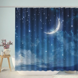 Starry Sky Moon Shower Curtain